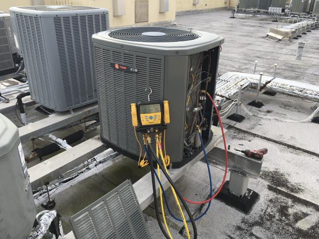 Beaufort, NC - Performed preventative maintenance on Trane Split System