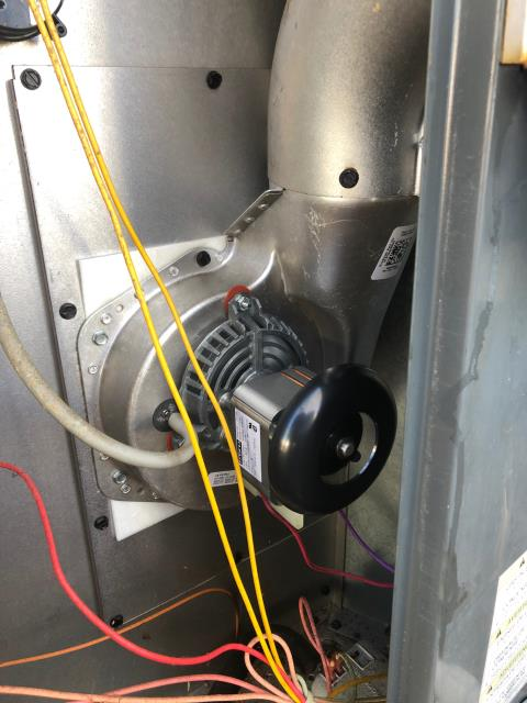 Kinston, NC - Installed new draft inducer motor.