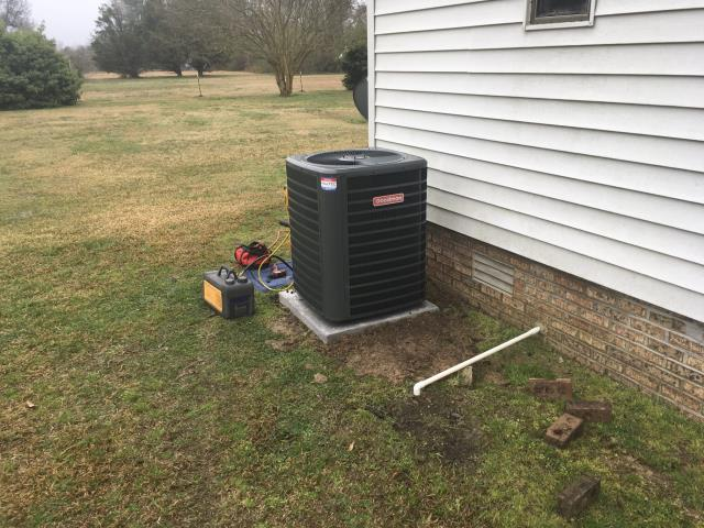Grifton, NC - Installed 3 ton Goodman Condenser