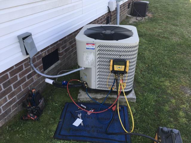 Washington, NC - Installed warranty evaporator coil on split system