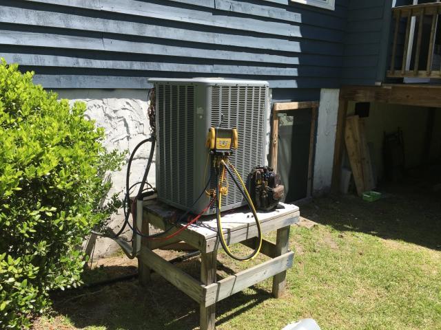 Performed Spring Maintenance on HVAC split system