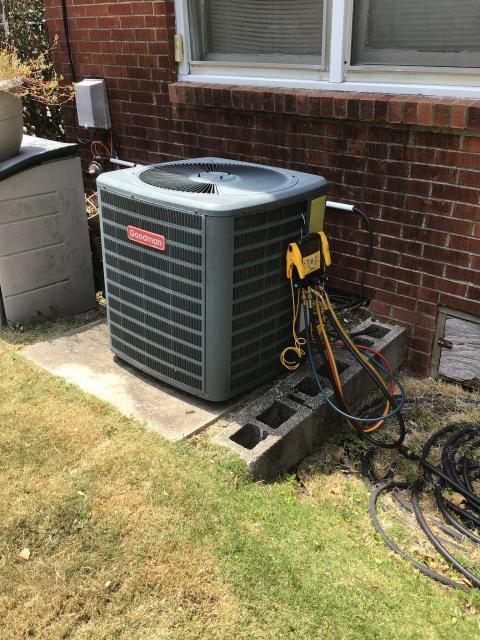 Greenville, NC - Added refrigerant to unit