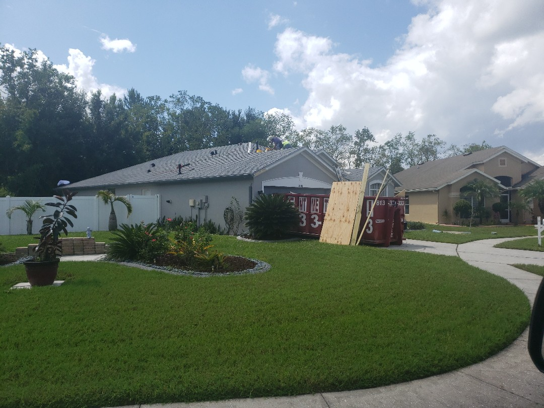 Lutz, FL - Just about to finish up on another GAF Golden Pledge Roofing System.