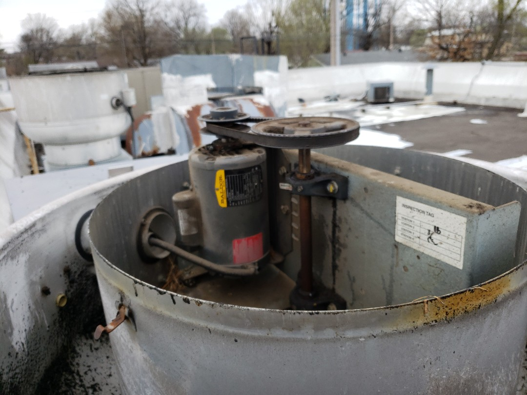 Miami, OK - Repair commercial exhaust fan.