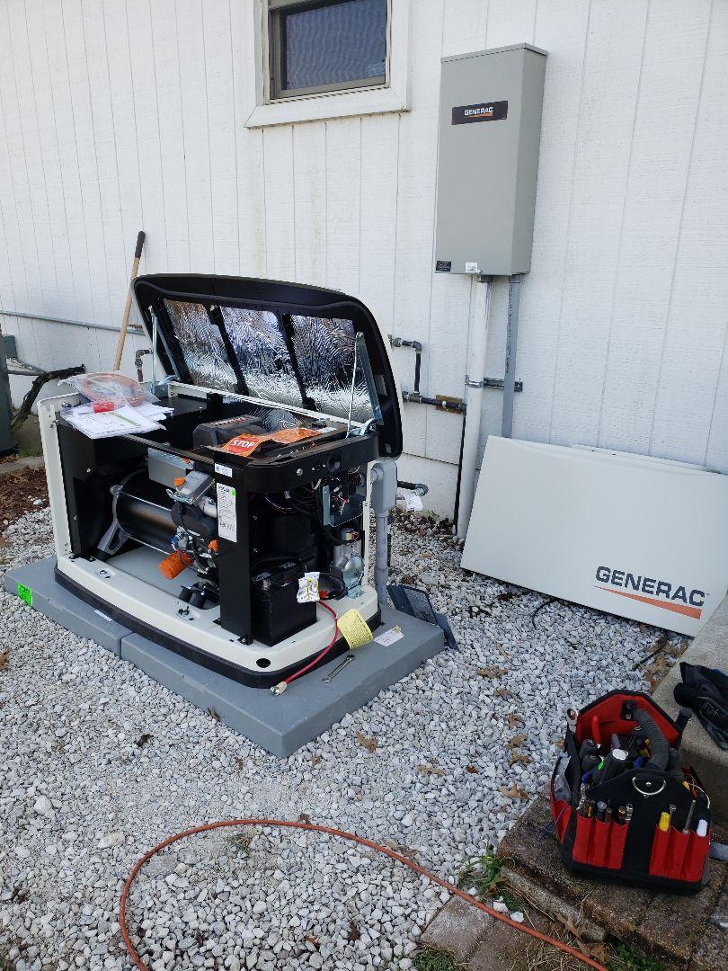Neosho, MO - Installing and Generac generator near Neosho Missouri