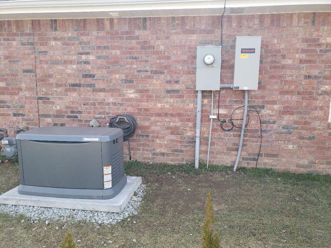 Neosho, MO - Honeywell generator installation in Neosho Missouri a job well done