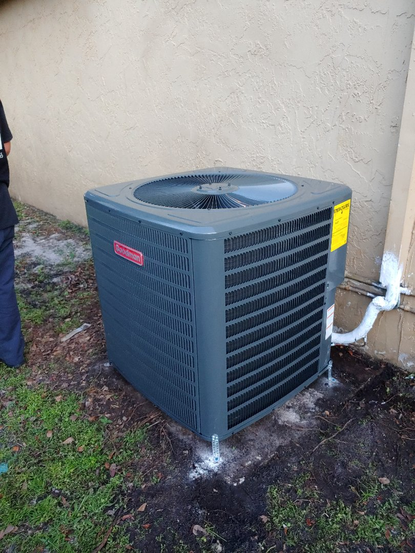 Coral Springs, FL - Ac repair IN CORAL SPRINGS ON GOODMAN UNIT. REPLACED CONDENSATE UNIT