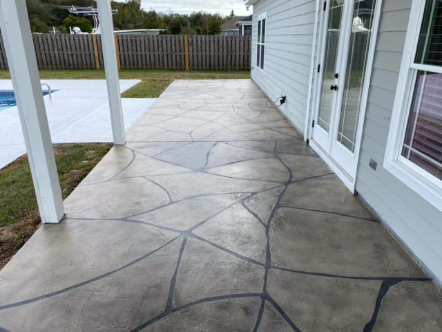 Cairo, GA - Transform your patio and pool deck for the new year! Combine systems for a uniquely beautiful look you will love for years! GRANIFLEX your deck to protect against extreme weather while creating a Grand Flagstone patio to enjoy the scenario all day long!