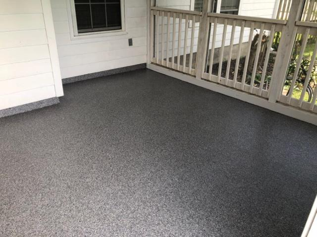 Bainbridge, GA - Thank you so much, Floor Warriors, for our beautiful front porch!! We had these gentlemen come out and resurface our old, worn down, ugly concrete porch last month! I can now sit outside and enjoy every minute of it with this porch!! I highly recommend Steve and his crew for all your concrete remodeling projects!