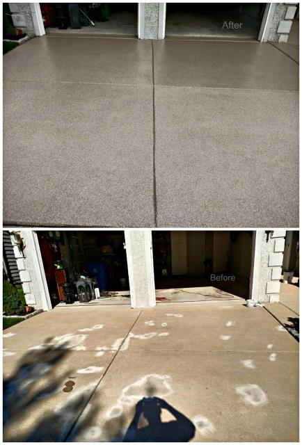 Cairo, GA - I highly recommend hiring these guys for all your decorative concrete flooring installations! Even though they provide fair pricing for quality work, they are definitely far worth every penny!! Our concrete driveway was stained, dingy, and just plain out a sight for soar eyes. Throughout the whole process, Steve and his crew were phenomenal. They were highly communicative, reliable, thorough, and polite! The finished result looks fantastic! The whole job was done on-budget, on-time, and with excellent customer service!! 5/5 stars!!!
