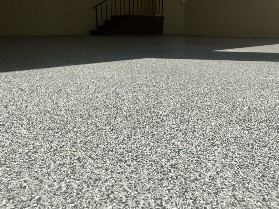 Thomasville, GA - We resurfaced the concrete on this 3 car garage with our Graniflex system and it turned out fantastic! Near Thomasville Georgia