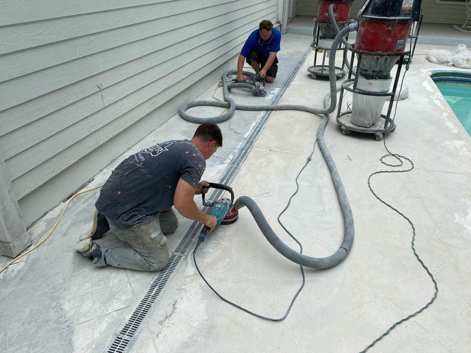 Tallahassee, FL - We just can't stress the fact of proper concrete preparation is key on any decorative concrete coating.