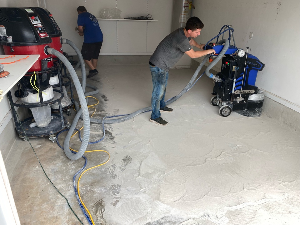 Tallahassee, FL - Concrete preparation is a battle!  We bring our Warrior equipment for concrete preparation.