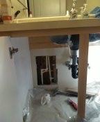 Troutdale, OR - Leak in 1/2 inch cpvc water line.  Behind vanity sink.