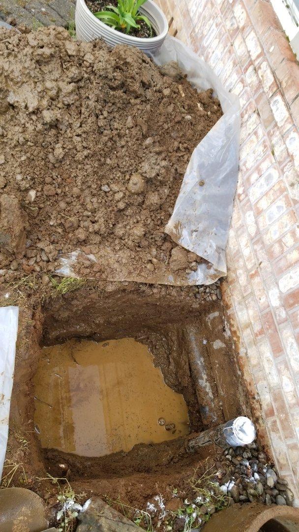 Troutdale, OR - Broken water service valve 3' deep pvc.