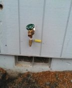 Troutdale, OR - Installed new hose bibb and tee for irrigation