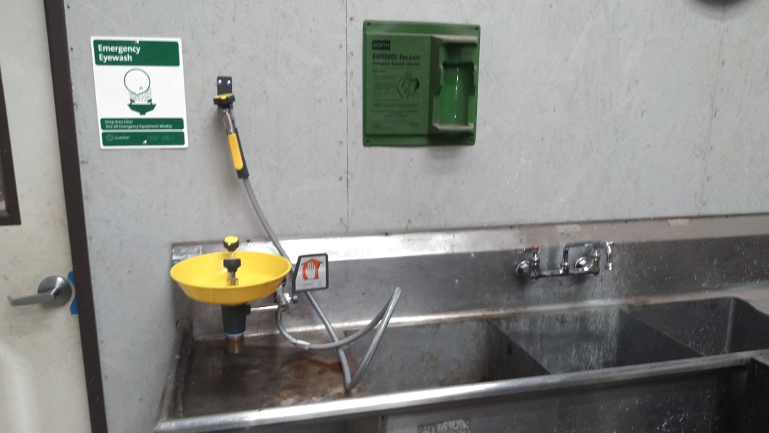 Troutdale, OR - Installed an eyewash station and a new commercial faucet.