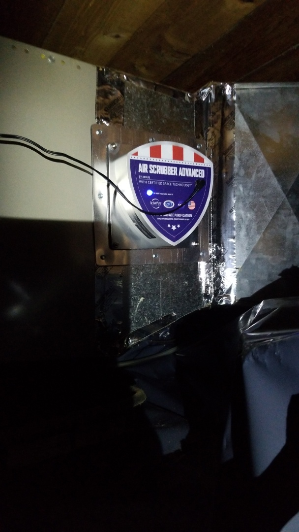 """Sandy, OR - Installing """"Air Scrubber"""" whole home air purifier."""