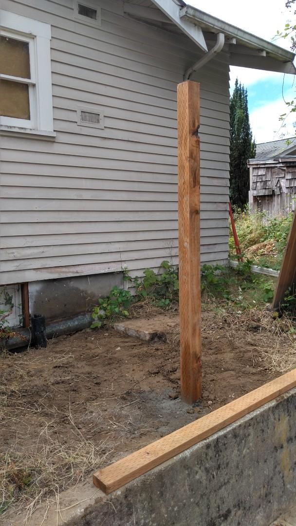 Portland, OR - Northeast Portland- sanitary sewer repair. Rebuilding fence.
