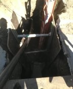 Portland, OR - Sewer boring. Trenchless