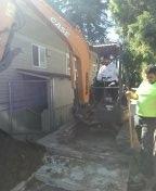 Portland, OR - Sanitary sewer line bursting. Southeast Portland