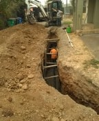 Portland, OR - Southeast Portland Oregon- Sanitary sewer line replacement.