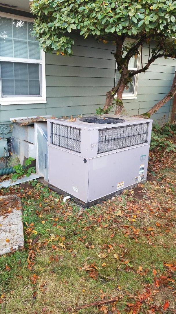 Gresham, OR - Package furnace/ac diagnostic and minor repair