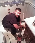Tigard, OR - When your toilet of your one bathroom house gets clogged. Call Anthony from Wolcott! He loves getting his hands dirty :)