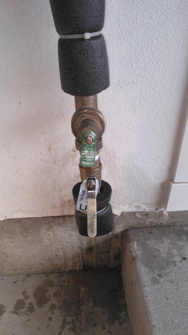 Forest Grove, OR - Leak repair on 1 inch brass shut off valve in garage