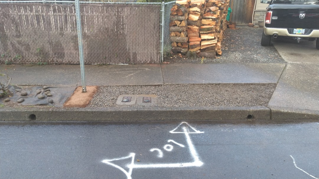 Fairview, OR - Install Yard box post Water service installation. Gresham Oregon