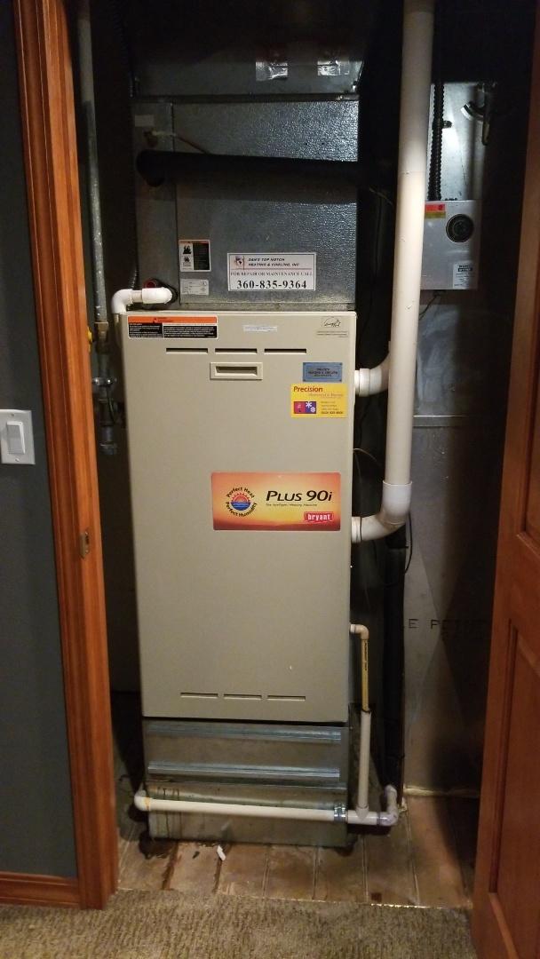 Washougal, WA - Furnace leaking diagnostic
