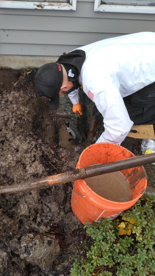 Tigard, OR - Water service repair.