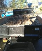 Gresham, OR - Back filling crawl space with drain Rock in order to help groundwater flow into French drain that ties into rain drain that leads into Creek bed. Gresham.