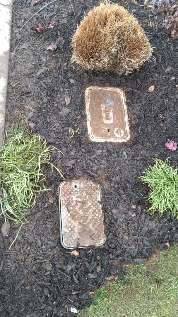 Aloha, OR - Backfilling water meter box for new water service line. Aloha.