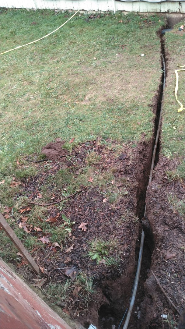Boring, OR - Installing new 1-in wirsbo water line from well house to underneath residence inside crawl space. Boring, Oregon.