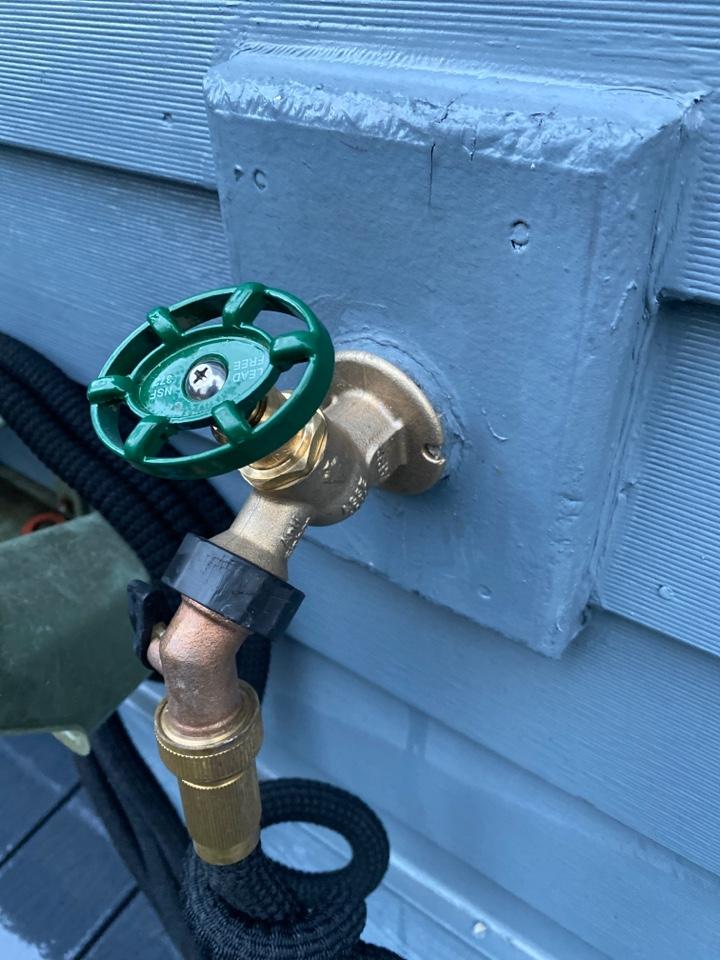 Portland, OR - Lake Oswego. New outside faucet.