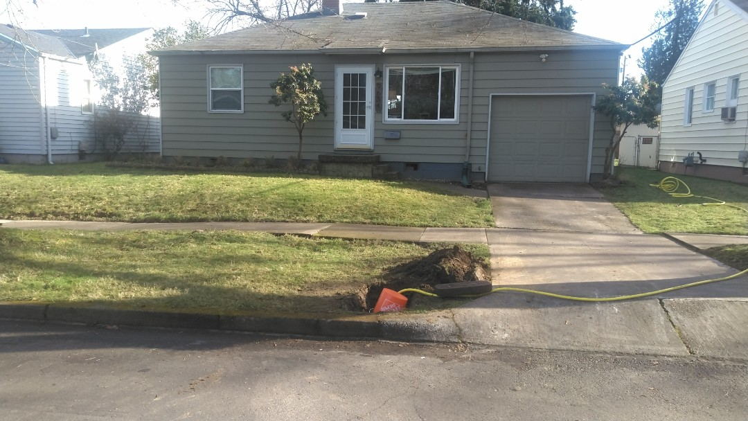 Portland, OR - North Portland  New water service installation.