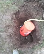 Portland, OR - Drilling new water service from water meter box to crawl space. Northwest Portland.