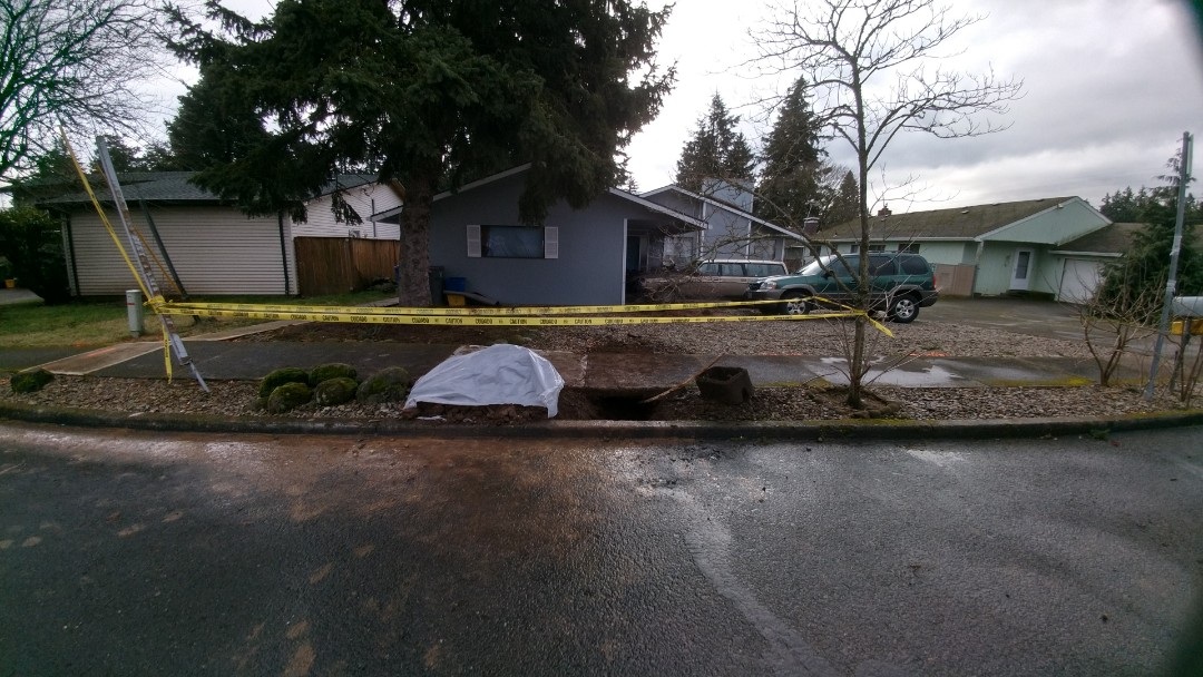 Troutdale, OR - Sanitary sewer line Northeast portland.