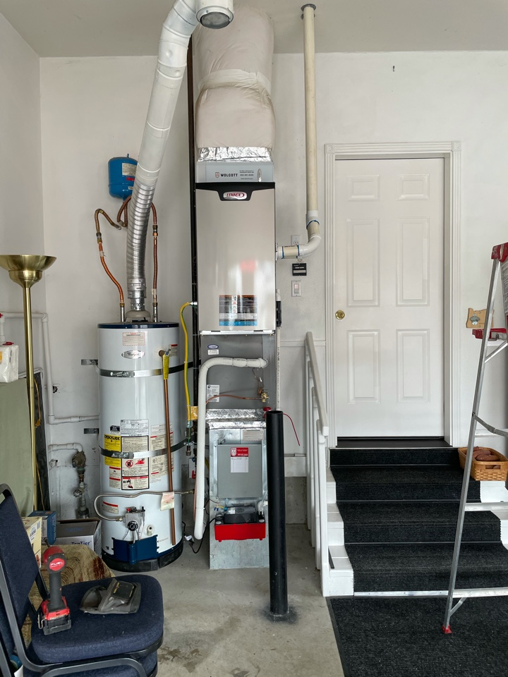 Troutdale, OR - New furnace, air conditioner, and filter install. Fairview, OR