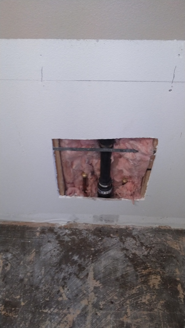 Gresham, OR - Capped sink off in wall