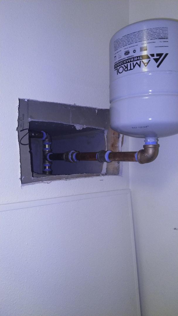 Corbett, OR - expansion tank installation
