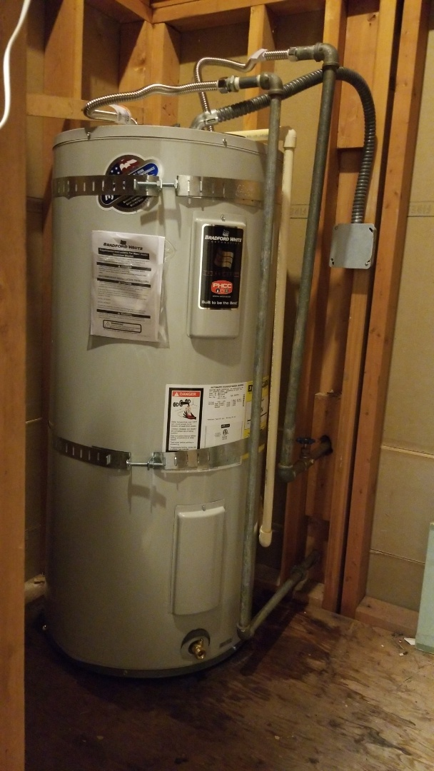 Fairview, OR - Water heater installation-unusual access