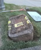 West Linn, OR - Unearthing box to expose water meter per Mike hogg. West Linn