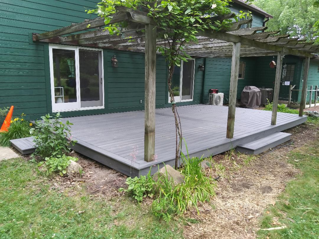 Superior Charter Township, MI - Island mist deck completion, another happy customer