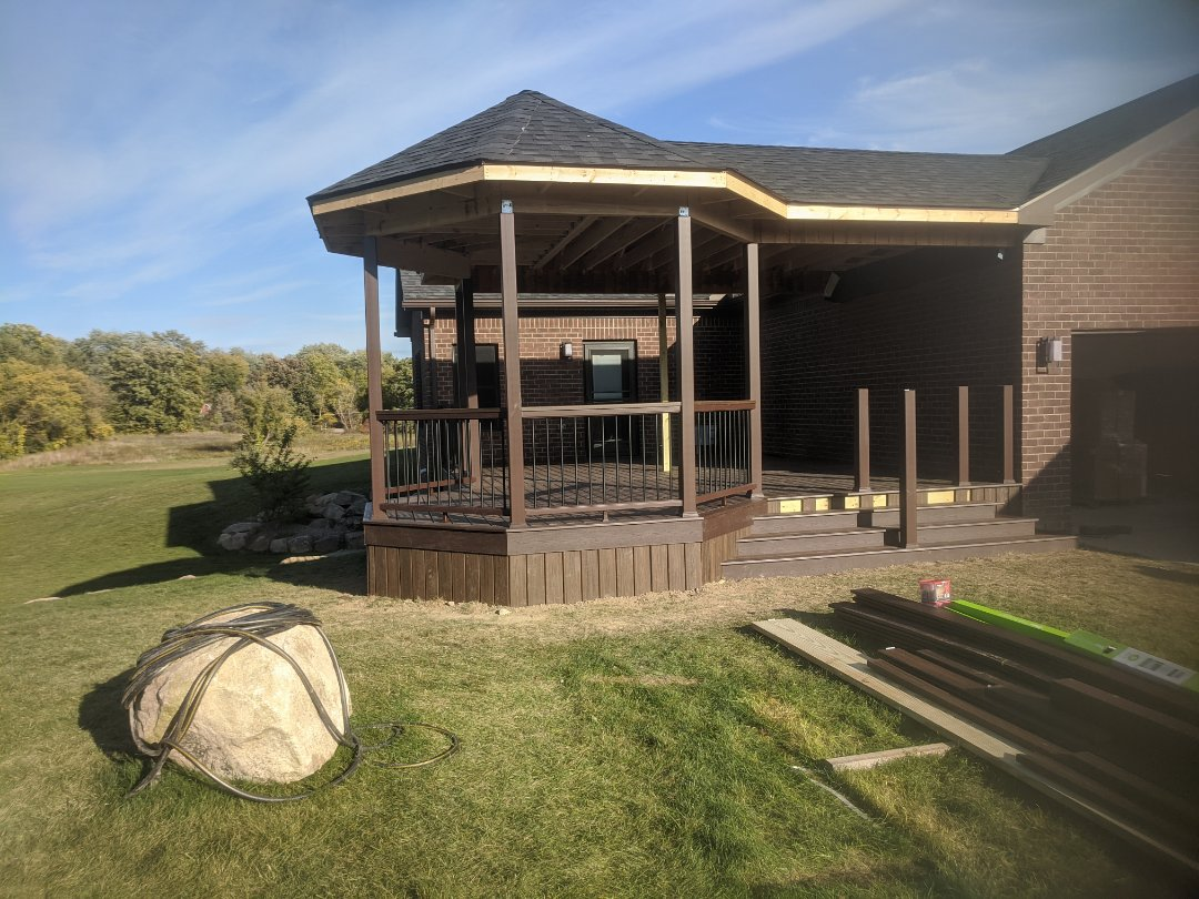 Milford Charter Township, MI - A beautiful new deck and covered porch