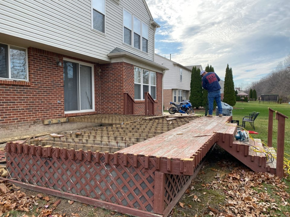Canton, MI - Working on demolition in Canton today. Next up is digging holes and prepping for a new Trex deck!