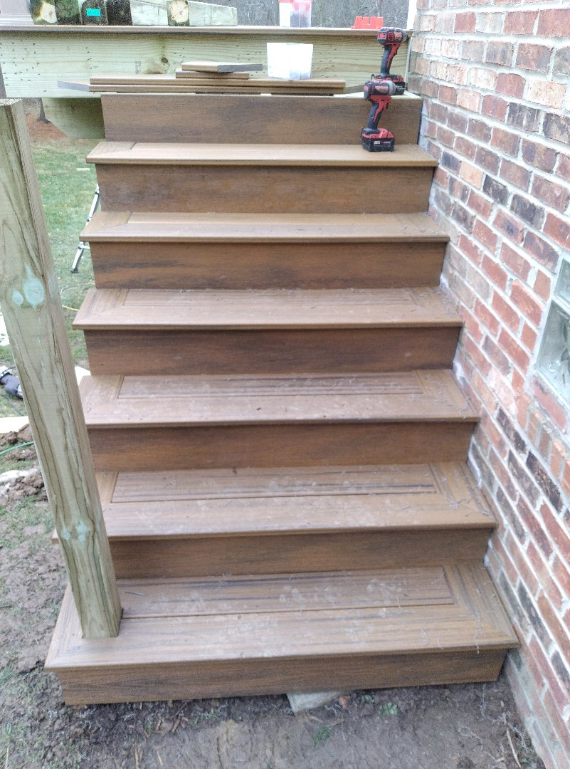 Nice open staircase on a beautiful fall day