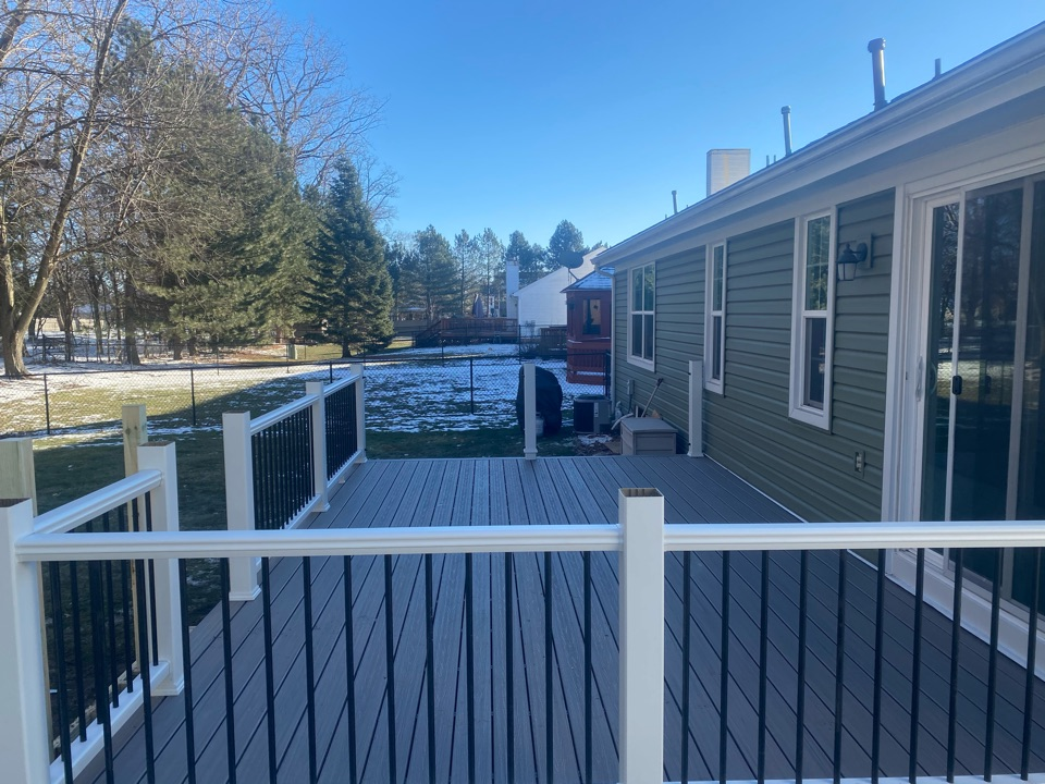 Westland, MI - Working on finishing this deck up! Got all of this done today, and finishing up tomorrow! Stay tuned for the finished product on this deck!