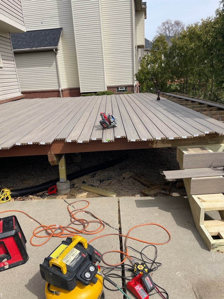 Wixom, MI - 342 square feet of rocky harbor decking, couldn't look any nicer!